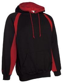 Badger Sportswear Hook Hooded Sweatshirt, M, Black/ Red