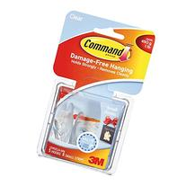 Command Small Hooks, Clear, 5-Hooks, 8-Strips