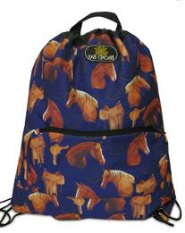 Horse Backpack Drawstring Bag - Horses Design Cinch Pack