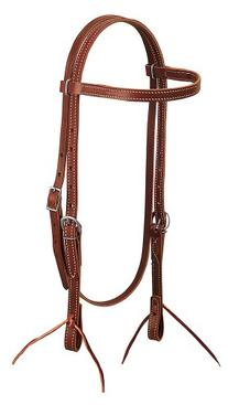 Weaver Leather Latigo Leather Browband Headstall, Brown