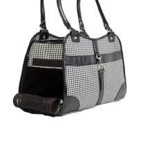 Houndstooth Print Tote Pet Dog Cat Carrier/Tote Purse Travel