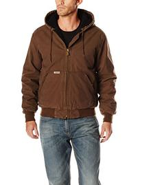 Wolverine Men's Houston Cotton Duck Hooded Jacket, Bison,
