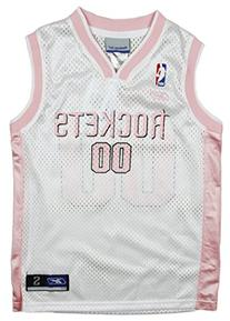Houston Rockets NBA Girl's Replica Pink Jersey , White/Pink