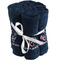 Houston Texans Towel Navy Blue 6-Pack Team Washcloth Set