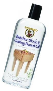Howard Products BBB012 Butcher Block and Cutting Board Oil,