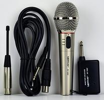 Hisonic HS308L Portable Wireless and Wired 2 in 1 Microphone