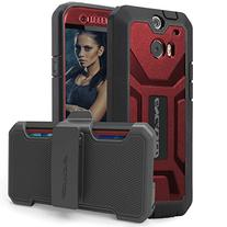 Encased Pantera Series Belt Clip Case for HTC ONE M8 - Red