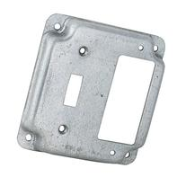 Hubbell-Raco 814C 1 Toggle and 1 GFCI 4-Inch Square Exposed
