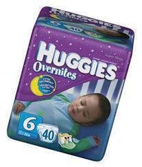 Huggies Overnites Diapers Super Mega Pack Size 6 40ct
