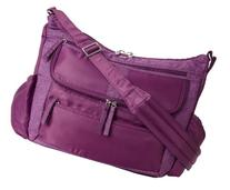 Lug Hula Hoop Carry-All Messenger, Plum Purple, One Size