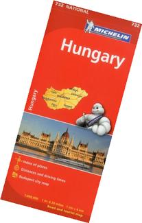 Michelin Hungary Map 732