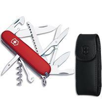Victorinox Huntsman Swiss Army Knife w/Bottle Opener, Red,
