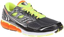 Saucony Men's Hurricane ISO Running Shoe, Grey/Citron/Orange