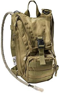 Hydration Pack with 2.5L Bladder and 2 Additional Pockets.