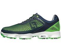 FootJoy Mens Hyperflex Golf Shoe Navy/Green Medium 8, Size: