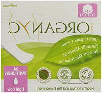 ORGANYC Hypoallergenic 100% Organic Cotton Panty Liners, 24-