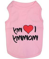 Parisian Pet I Love Mommy Dog T-Shirt, Medium, Pink