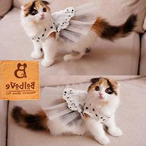 i'Pet® Princess Floral Cat Party Bridal Wedding Dress Small