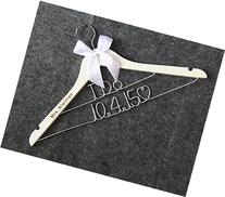 I DO Wedding Hangers-Custom Name and date Personalized