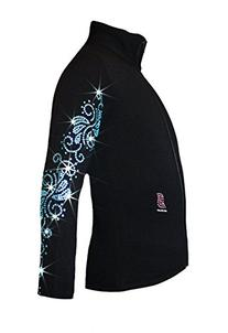 """Ice Fire Polartec Figure Skating Jacket with """"Crystals"""