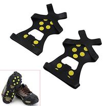 Tera 1 Pair Ice Snow Shoe Spikes Grips Crampons Cleats Anti