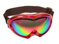 BirdZ Eyewear Icebird Ski Goggles with Red Padded Frame Anti