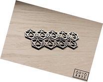 Icosahedron d20 Geometric Laser Cut Wood Charm