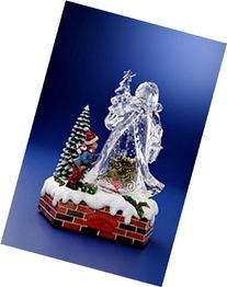 Pack of 2 Icy Crystal Animated Musical Christmas Santa Snow