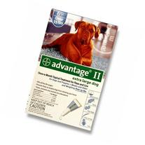 Advantage II x-large dogs over 55 lbs, 6 month