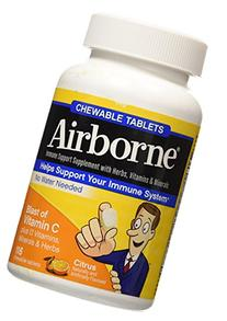 Airborne 116 Piece Immune Support Chewable Tablets, Citrus,
