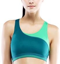 Women High Impact Contrast Color Running Racerback Sports