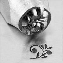 ImpressArt Metal Punch Stamp 'Floral Swirl' 6mm  Design - 1