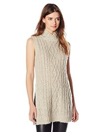 Women's Ina Tunic Mock Neck Sweater, Oatmeal, X-Small