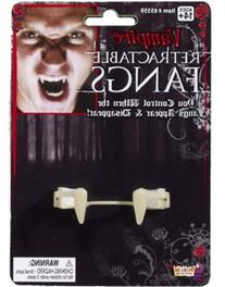 Retractable Vampire Fangs Adult-White / One-Size