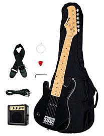"1/2 Half Size Kids Black 30"" Inch Electric Guitar and"