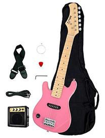 "1/2 Half Size Kids Pink 30"" Inch Electric Guitar and"