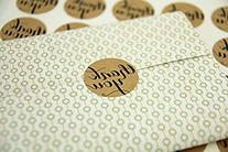 """Newest trent 1.4"""" Inch Round Natural Thank You Kraft Paper"""