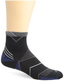Sockwell Men's Incline Quarter Compression Socks, Black,
