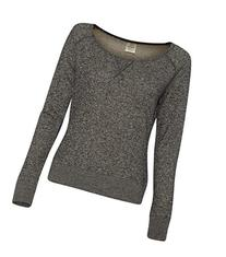 Independent Trading Co. - Juniors' Wide Neck Sweaterfleece