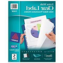 """Index Divider, 5-Tabs, 9""""x11"""", Laser and Inkjet Printable,"""