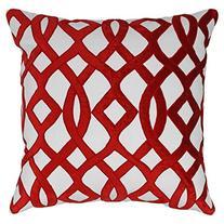 Blazing Needles Indian Trellis Velvet Applique Throw Pillow
