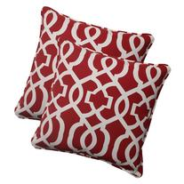 Pillow Perfect Outdoor New Geo Corded Throw Pillow, 18.5-