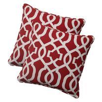 Pillow Perfect Indoor/Outdoor New Geo Corded Throw Pillow,