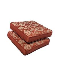 Set of 2 Outdoor/Indoor Seat Pads in Spun Polyester Mauve by