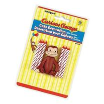 Unique Industry, Curious George Candles and Cake Topper, 6-
