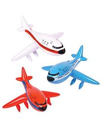 Set of 3 Inflatable AIRPLANES/Jet/747/INFLATES/Birthday