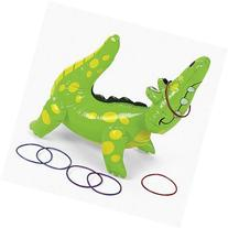Inflatable Alligator Ring Toss Party Game