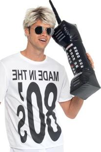 Smiffy's Men's Inflatable Retro Mobile Phone 30 Inches,