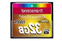 Transcend Information 32GB Compact flash Card - TS32GCF1000