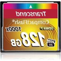 Transcend 128GB Compact Flash Memory Card 1000x